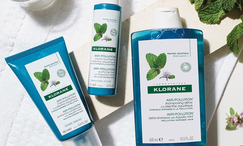 Klorane Aquatic Mint Shampoo, Conditioner and Spray