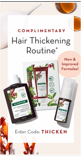 Complimentary Hair Thickening Routine promo grid