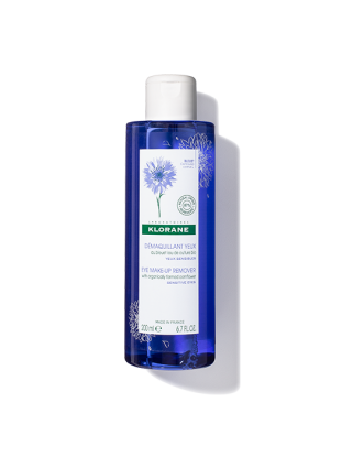 Floral lotion eye make-up remover with soothing Cornflower