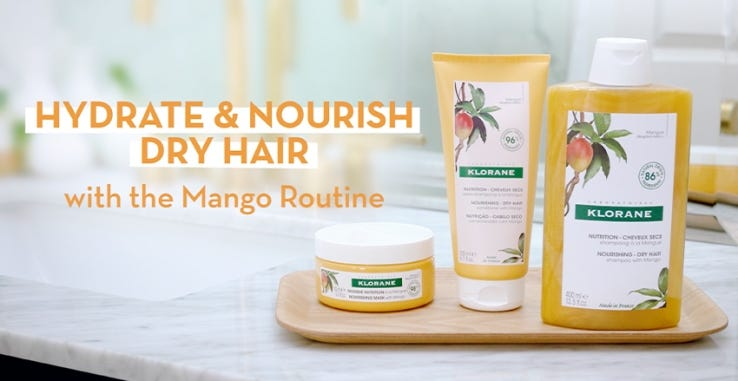 How to Hydrating Mango Dry Hair Routine Trial Kit